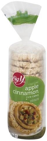 Big Y Apple Cinnamon Rice Cakes - 6.52 oz