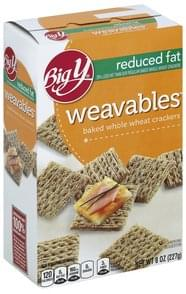 Big Y Crackers Reduced Fat, Weavables
