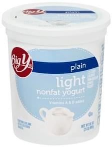 Big Y Yogurt Nonfat, Light, Plain