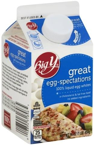 Big Y 100% Liquid Egg Whites - 16 oz