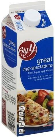Big Y 100% Liquid Egg Whites - 32 oz