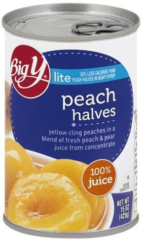 Big Y Halves, Lite Peach - 15 oz