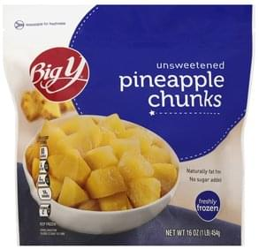 Big Y Pineapple Chunks Unsweetened