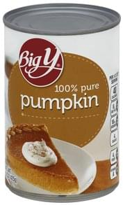 Big Y Pumpkin 100% Pure