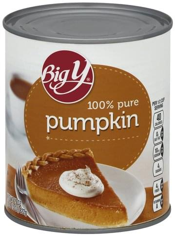 Big Y 100% Pure Pumpkin - 29 oz