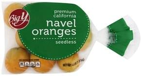 Big Y Navel Oranges Premium California, Seedless