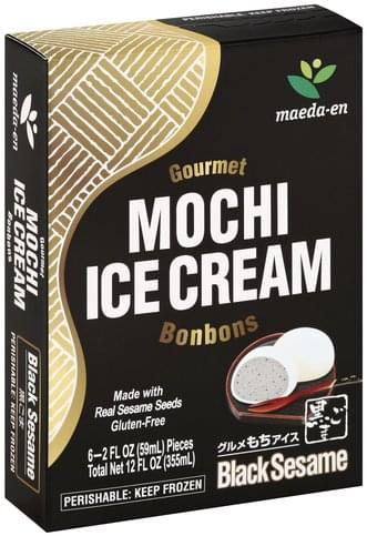 Maeda En Mochi, Black Sesame Ice Cream - 6 ea, Nutrition