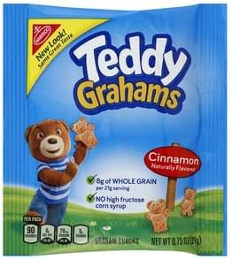 Teddy Grahams Graham Snacks Cinnamon