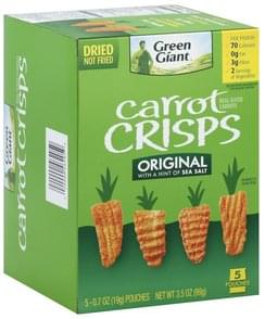 Green Giant Carrot Crisps Original
