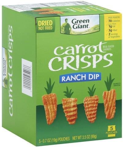 Green Giant Ranch Dip Carrot Crisps - 5 ea