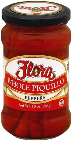 Flora Fine Foods Whole Piquillo Peppers - 10 oz