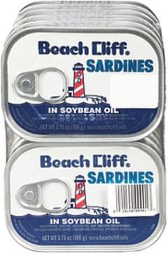 Beach Cliff Beach Cliff Sardines In Soybean Oil In Soybean Oil
