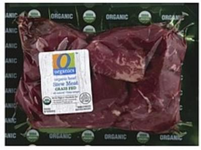O Organics Beef Organic, Grass Fed, Stew Meat