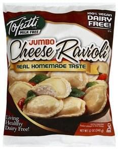 Tofutti Ravioli Cheese, Jumbo
