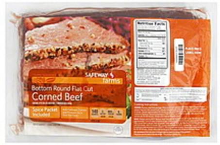Safeway Corned Beef Bottom Round Flat Cut