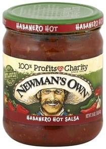Newmans Own Salsa Habanero Hot