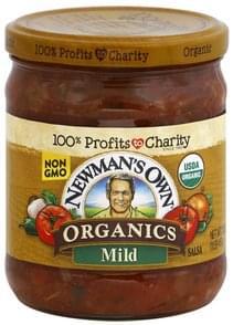 Newmans Own Organics Salsa Mild