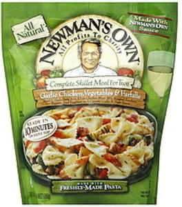 Newmans Own Complete Skillet Meal For Two Garlic Chicken, Vegetables, & Farfalle