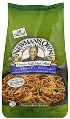 Newmans Own Complete Skillet Meal for Two Garlic Chicken & Lo Mein Noodles