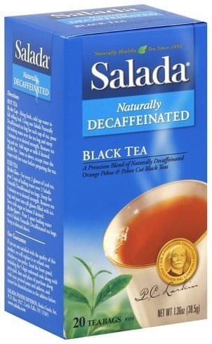 Salada Naturally Decaffeinated Black Tea - 20 ea