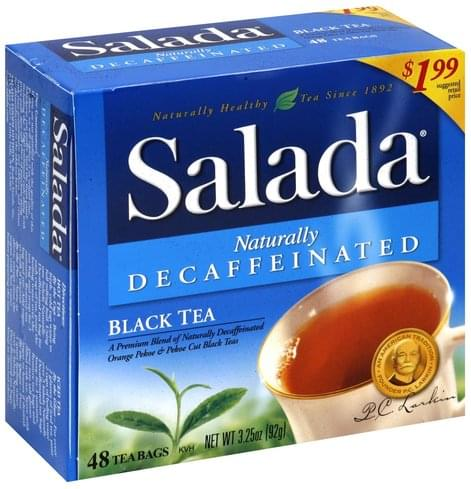 Salada Naturally Decaffeinated Black Tea - 48 ea