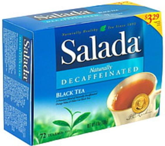 Salada Naturally Decaffeinated, Pre-Priced Black Tea - 72 ea
