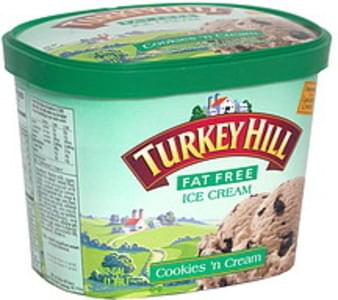 Turkey Hill Ice Cream Cookies'n Cream, Fat Free