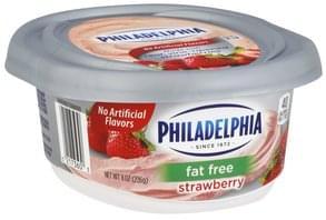 Philadelphia Cream Cheese Fat Free, Strawberry
