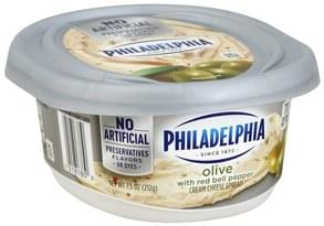 Philadelphia Cream Cheese Spread Olive, with Red Bell Pepper