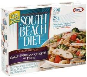 South Beach Diet Garlic Parmesan Chicken with Penne Italian Inspired