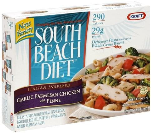 South Beach Diet Italian Inspired Garlic Parmesan Chicken with Penne - 11 oz