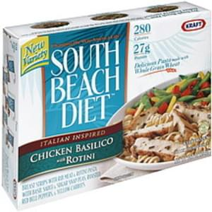 South Beach Diet Chicken Basilico with Rotini