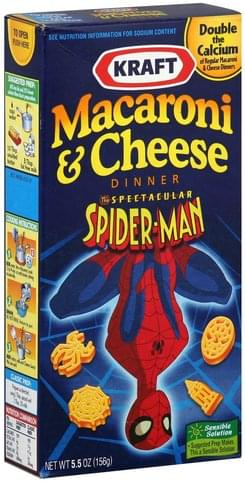 Kraft The Spectacular Spider-Man Macaroni & Cheese Dinner - 5.5 oz