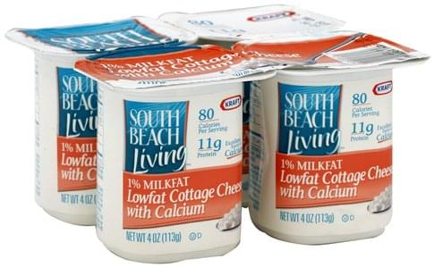South Beach Diet Lowfat with Calcium Cottage Cheese - 4 ea