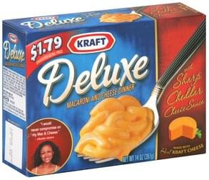 Kraft Macaroni and Cheese Dinner Sharp Cheddar Cheese Sauce