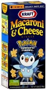 Kraft Macaroni & Cheese Dinner Pokemon Diamond and Pearl, Piplup