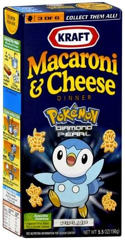 Kraft Pokemon Diamond and Pearl, Piplup Macaroni & Cheese Dinner - 5.5 oz