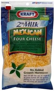 Kraft Shredded Cheese Mexican Style, Reduced Fat with Added Calcium