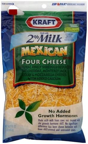 Kraft Mexican Style, Reduced Fat with Added Calcium Shredded Cheese - 16 oz