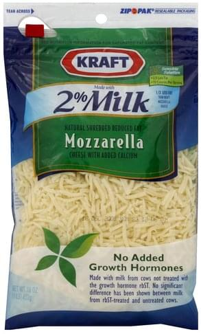 Kraft Reduced Fat Mozzarella Shredded Cheese - 16 oz
