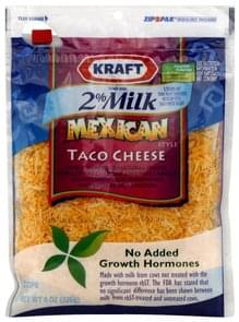 Kraft Shredded Cheese Reduced Fat, Mexican Style Taco Cheese