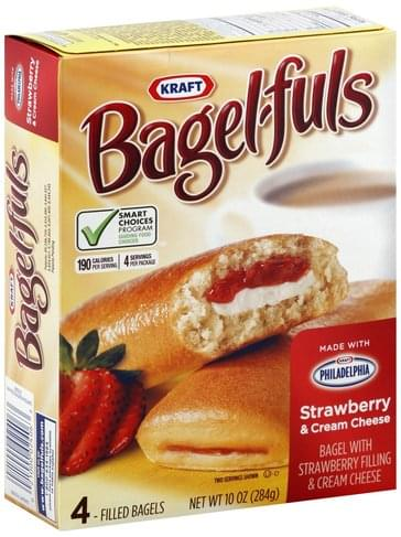 BagelFuls Strawberry & Cream Cheese Filled Bagels - 4 ea, Nutrition