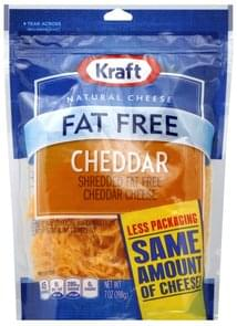 Kraft Shredded Cheese Cheddar, Fat Free