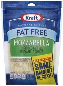 Kraft Shredded Cheese Mozzarella, Fat Free