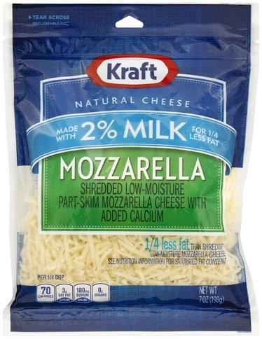 Kraft Shredded, Low-Moisture, Mozzarella, Part-Skim Cheese - 7 oz