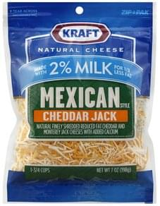 Kraft Finely Shredded Cheese Mexican Style, Cheddar Jack