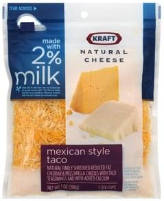 Kraft Cheese Mexican Style Taco