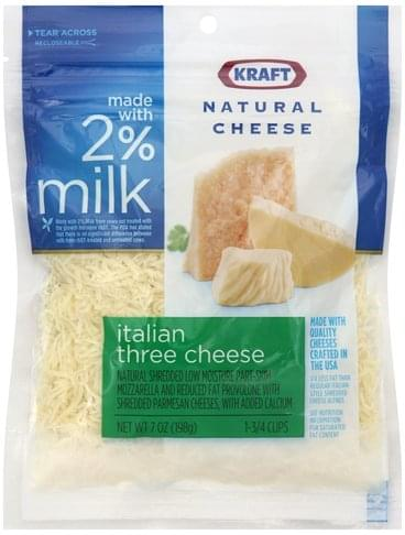 Kraft Italian Three Cheese Cheese - 7 oz