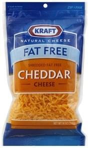 Kraft Shredded Cheese Cheddar, Fat Free