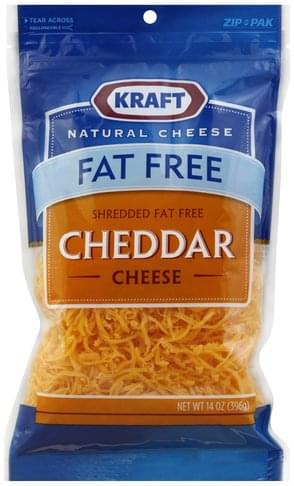 Kraft Cheddar, Fat Free Shredded Cheese - 14 oz